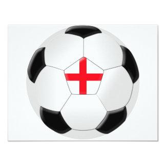Balón de fútbol - Inglaterra Invitación 10,8 X 13,9 Cm