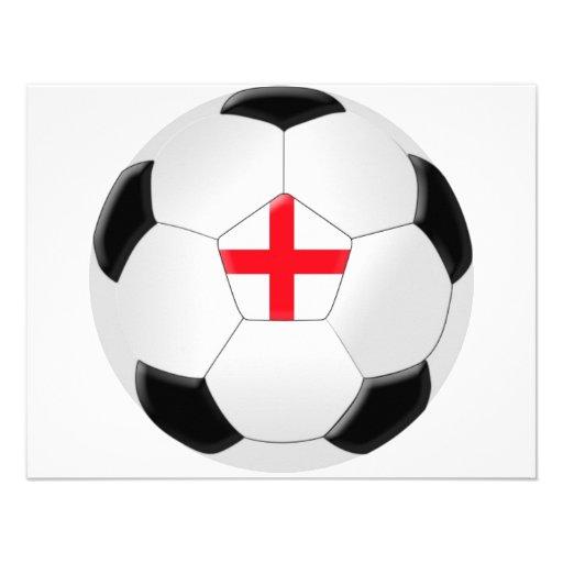 Balón de fútbol - Inglaterra Invitacion Personal