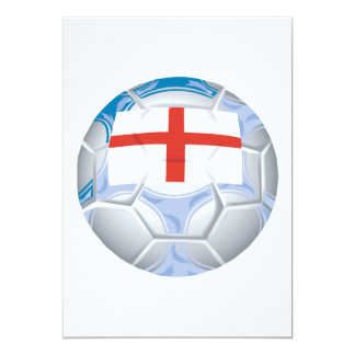Balón de fútbol inglés invitación 12,7 x 17,8 cm