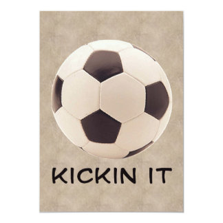 Balón de fútbol invitación 12,7 x 17,8 cm