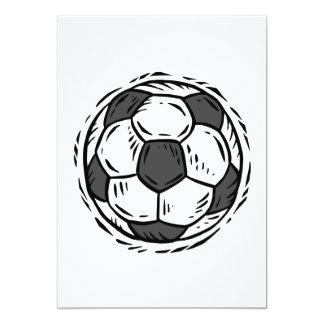 Balón de fútbol invitaciones personalizada