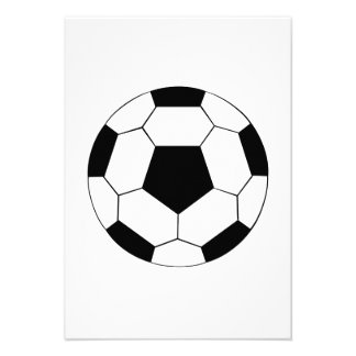 Balón de fútbol invitación personalizada