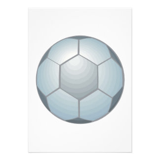 Balón de fútbol invitaciones personales