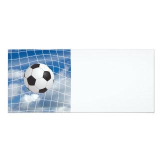 Balón de fútbol invitación 10,1 x 23,5 cm