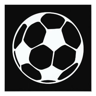 balón de fútbol invitación 13,3 cm x 13,3cm