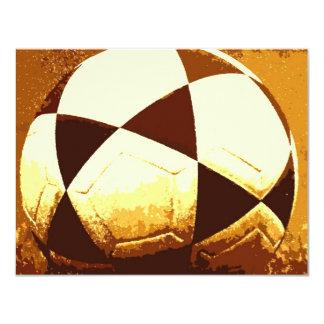 Balón de fútbol - invitación de la bola del fútbol