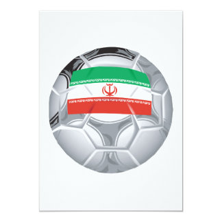 Balón de fútbol iraní comunicado