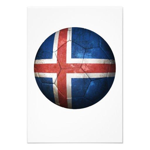 Balón de fútbol islandés gastado de fútbol de band comunicados personales