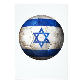 Balón de fútbol israelí gastado de fútbol de invitación 8,9 x 12,7 cm