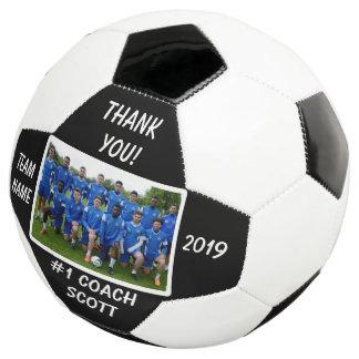 Balón De Fútbol La foto personalizada del equipo del entrenador de