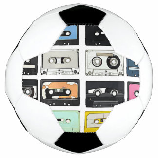 Balón De Fútbol La mezcla retra del casete del vintage graba el