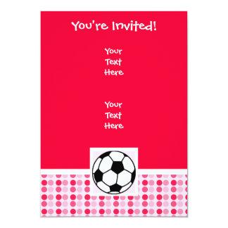 Balón de fútbol lindo invitación 12,7 x 17,8 cm