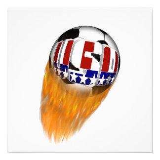 Balón de fútbol llameante de los E E U U