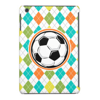 Balón de fútbol; Modelo colorido de Argyle Fundas De iPad Mini Retina
