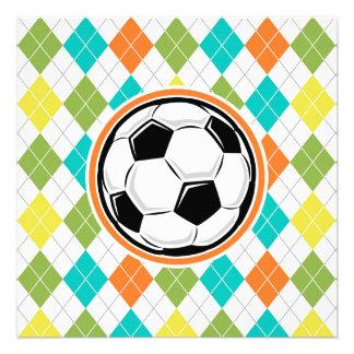 Balón de fútbol Modelo colorido de Argyle Invitación