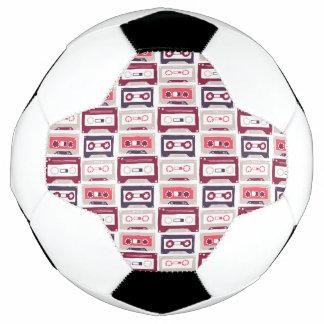 Balón De Fútbol Modelo retro fresco del vector de los casetes del