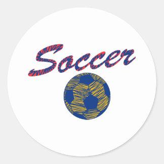 Balón de fútbol N Pegatina Redonda