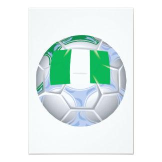 Balón de fútbol nigeriano invitación 12,7 x 17,8 cm
