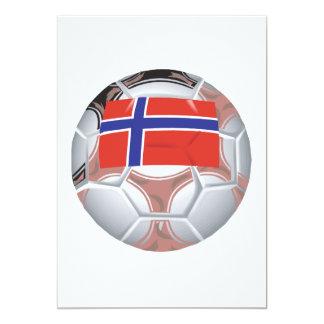 Balón de fútbol noruego invitación 12,7 x 17,8 cm