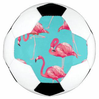 Balón De Fútbol Pájaros rosados del flamenco en fondo de la
