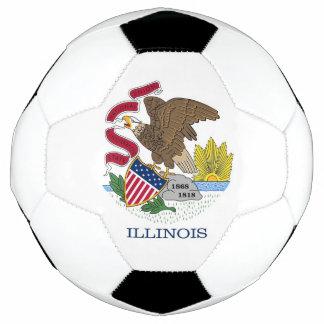 Balón de fútbol patriótico con la bandera de