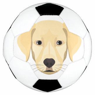 Balón De Fútbol Perrito Retriver de oro del ilustracion
