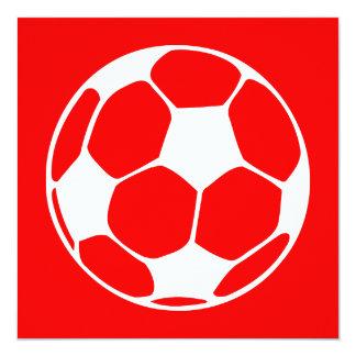 balón de fútbol: personalizable del color invitación 13,3 cm x 13,3cm