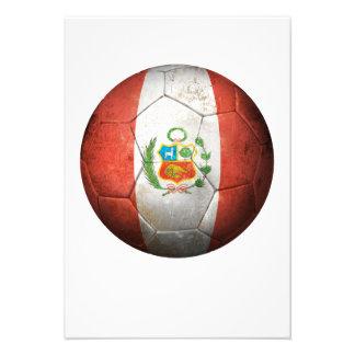 Balón de fútbol peruano gastado de fútbol de bande invitaciones personales