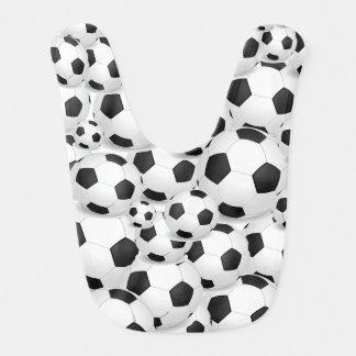 Balón de fútbol por todo delantal del bebé babero