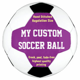Balón De Fútbol PÚRPURA impresa personalizado de Futbol del fútbol