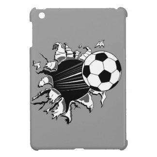 Balón de fútbol que revienta hacia fuera iPad mini funda