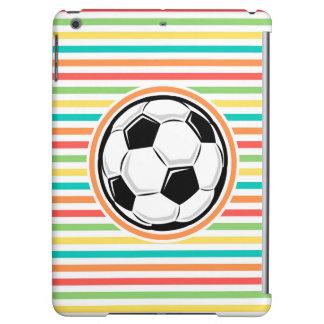 Balón de fútbol; Rayas brillantes del arco iris