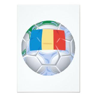Balón de fútbol rumano invitación 12,7 x 17,8 cm