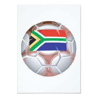 Balón de fútbol surafricano invitación 12,7 x 17,8 cm