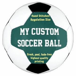 Balón De Fútbol VERDE impreso personalizado de Futbol del fútbol