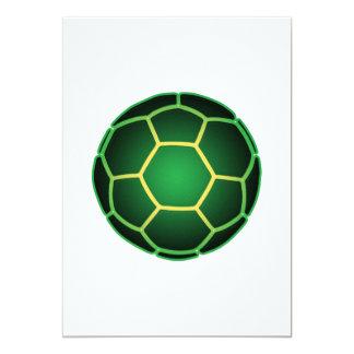 Balón de fútbol verde comunicados personalizados