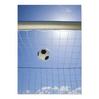 Balón de fútbol y meta 2 invitacion personalizada