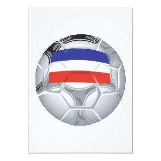 Balón de fútbol yugoslavo invitación 12,7 x 17,8 cm