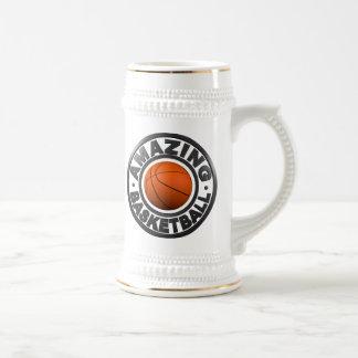 Baloncesto asombroso jarra de cerveza