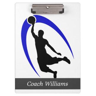 Baloncesto azul negro personalizado