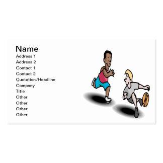 Baloncesto de la juventud plantillas de tarjetas personales