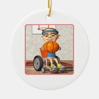 Baloncesto de la silla de rueda ornamento de navidad
