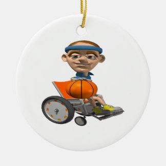 Baloncesto de la silla de rueda adornos de navidad
