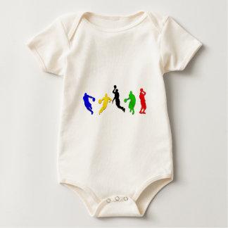 Baloncesto de los aros   de los jugadores de body de bebé