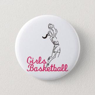 Baloncesto de los chicas chapa redonda de 5 cm