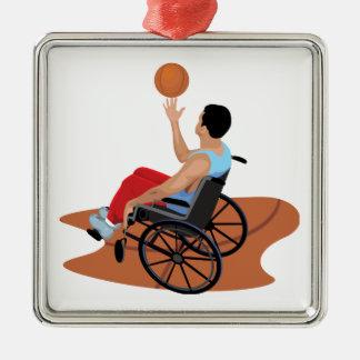 baloncesto de silla de ruedas adorno para reyes