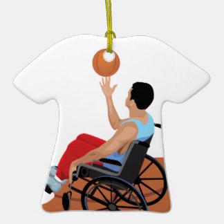 baloncesto de silla de ruedas adornos de navidad