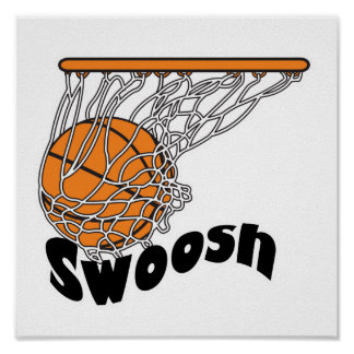 baloncesto de Swoosh Póster