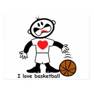 Baloncesto del amor de los niños I Postal