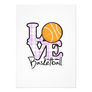 Baloncesto del amor invitacion personalizada
